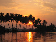 Allepey Sunset on the backwaters